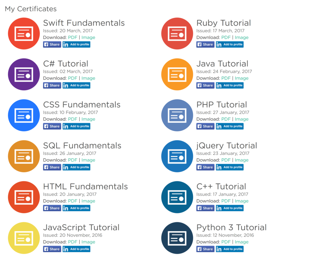 Completing all 12 Programming Courses on Sololearn – [After